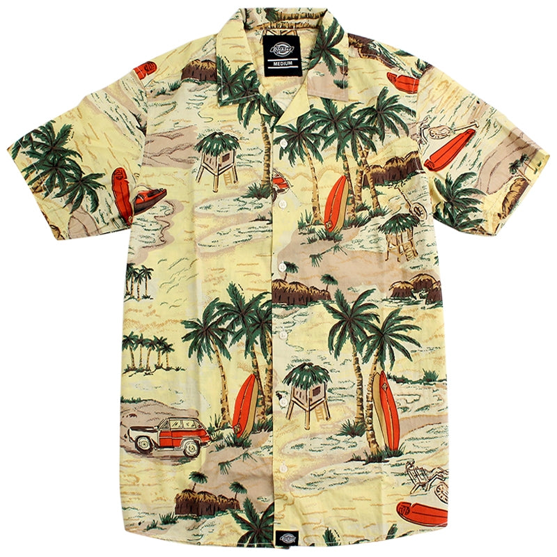 DICKIES PALM BAY S / S SHIRT YELLOW