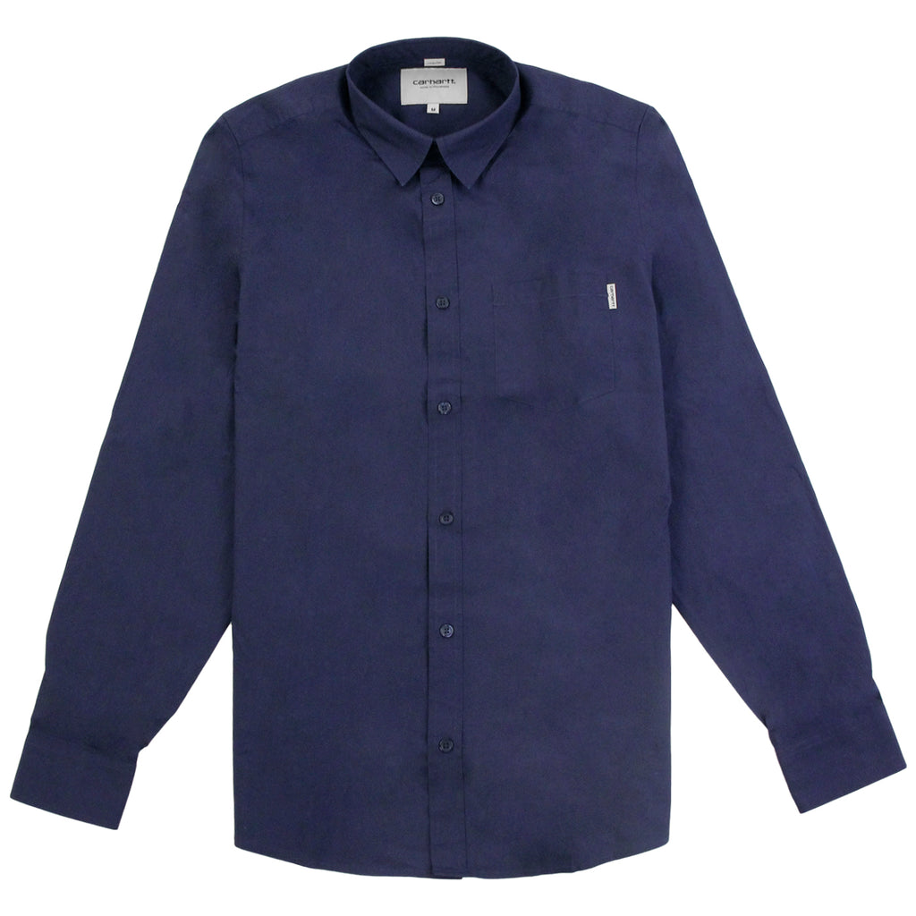 Carhartt L/S Wesley Shirt in Blue