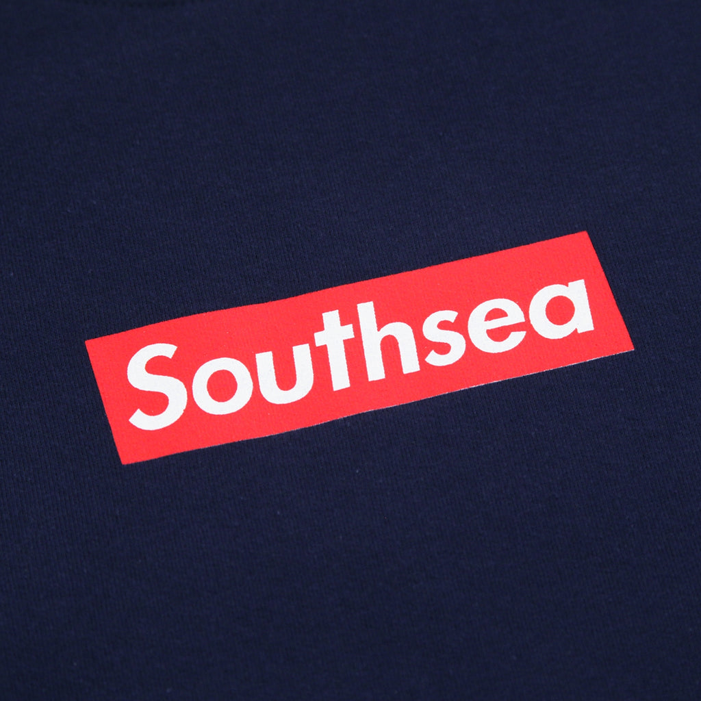 "Bored of Southsea ""Southsea"" Sweatshirt in Navy / Red Box - Print"