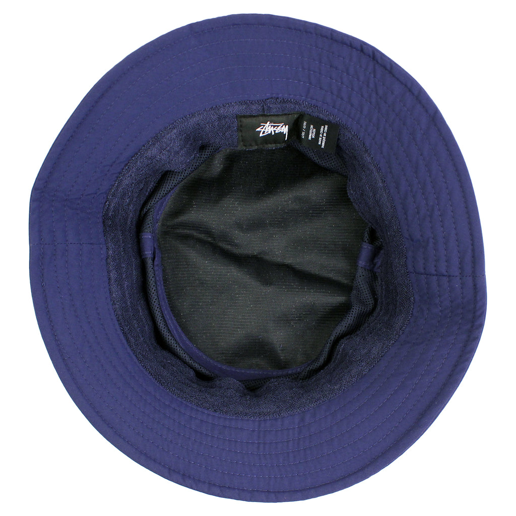 Stussy Band Bucket Hat in Navy - Inside
