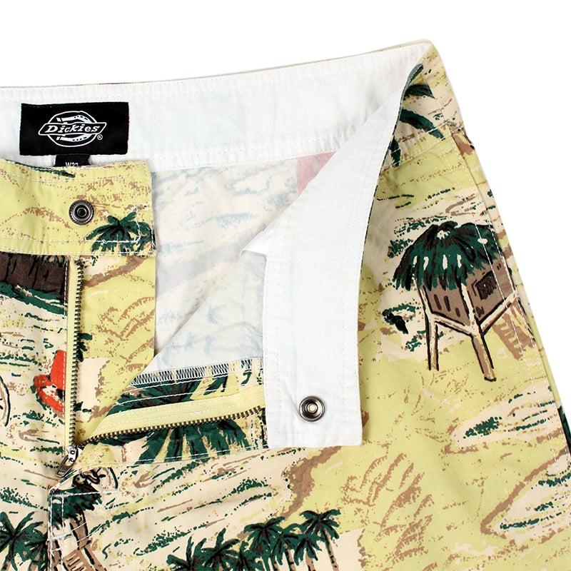 DICKIES PALM VALLEY SHORT YELLOW - Zipper