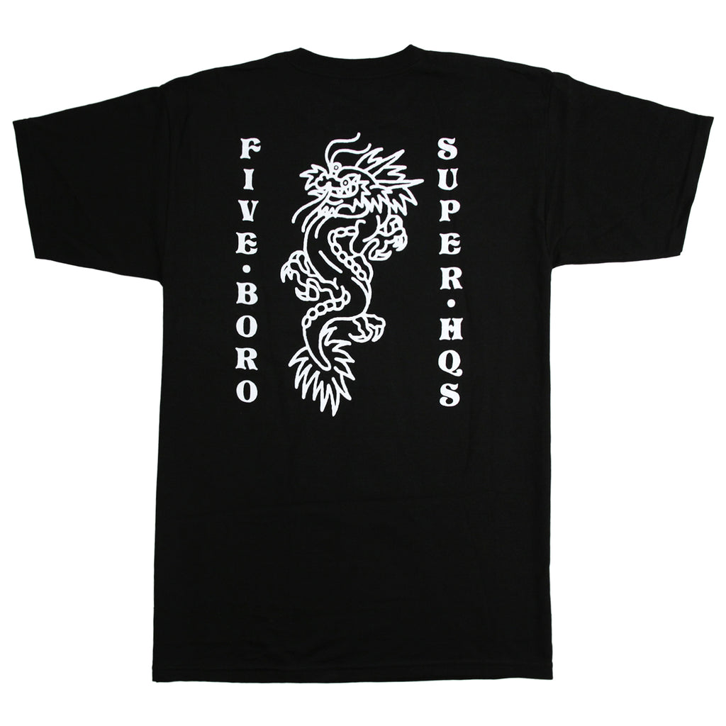 5Boro Dragon T Shirt in Black