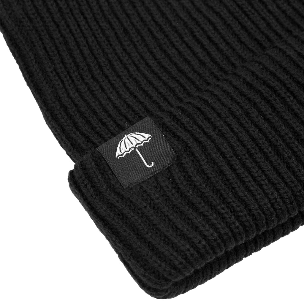 Helas Umbrella Beanie in Black - Detail
