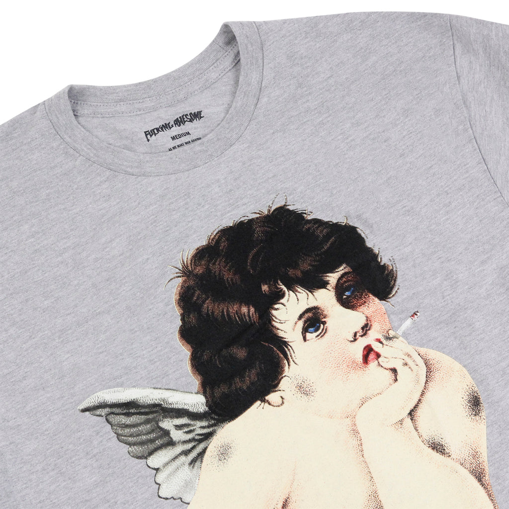 Fucking Awesome Angel T Shirt in Heather Grey - Detail