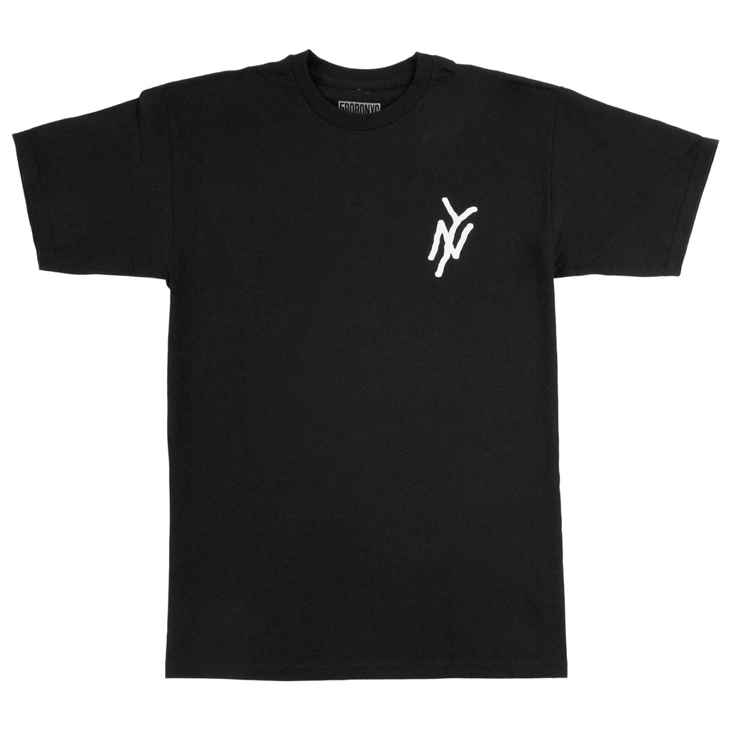 5Boro NY Monogram T Shirt in Black - Front