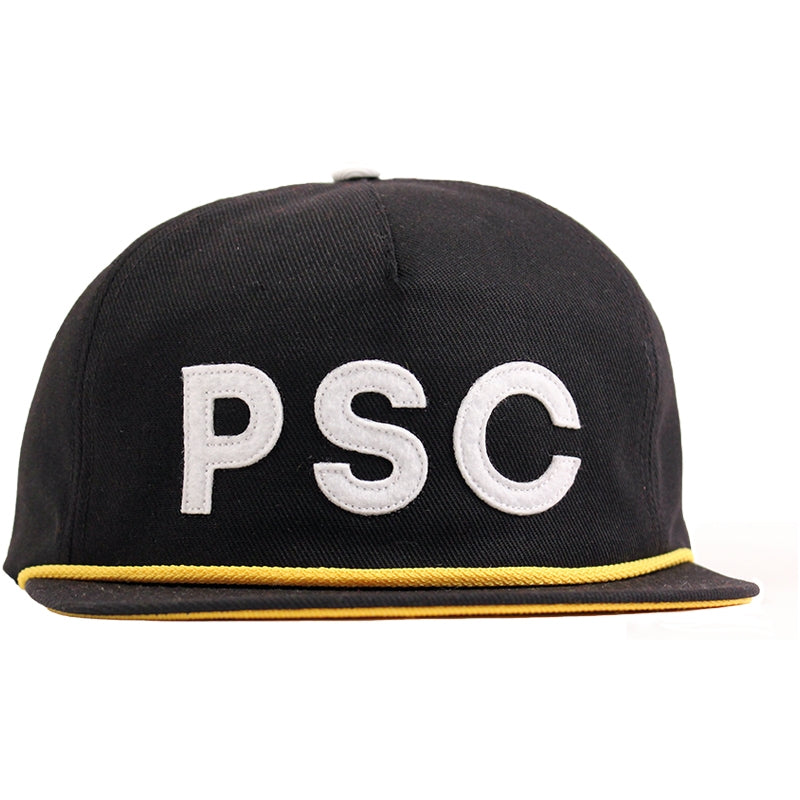 Polar Skate Co PSC Soft Snapback in Black / Yellow - Front