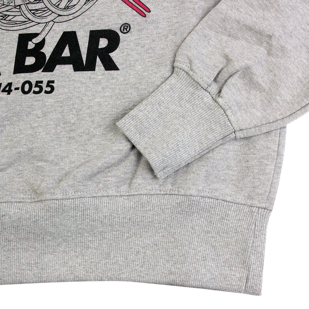 Bored of Southsea Tea Bar Sweatshirt in White / Hot Pink - Cuff
