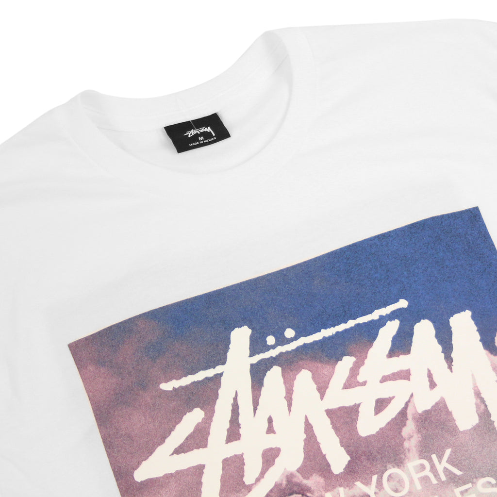 Stussy WT Clouds T Shirt in White - Detail