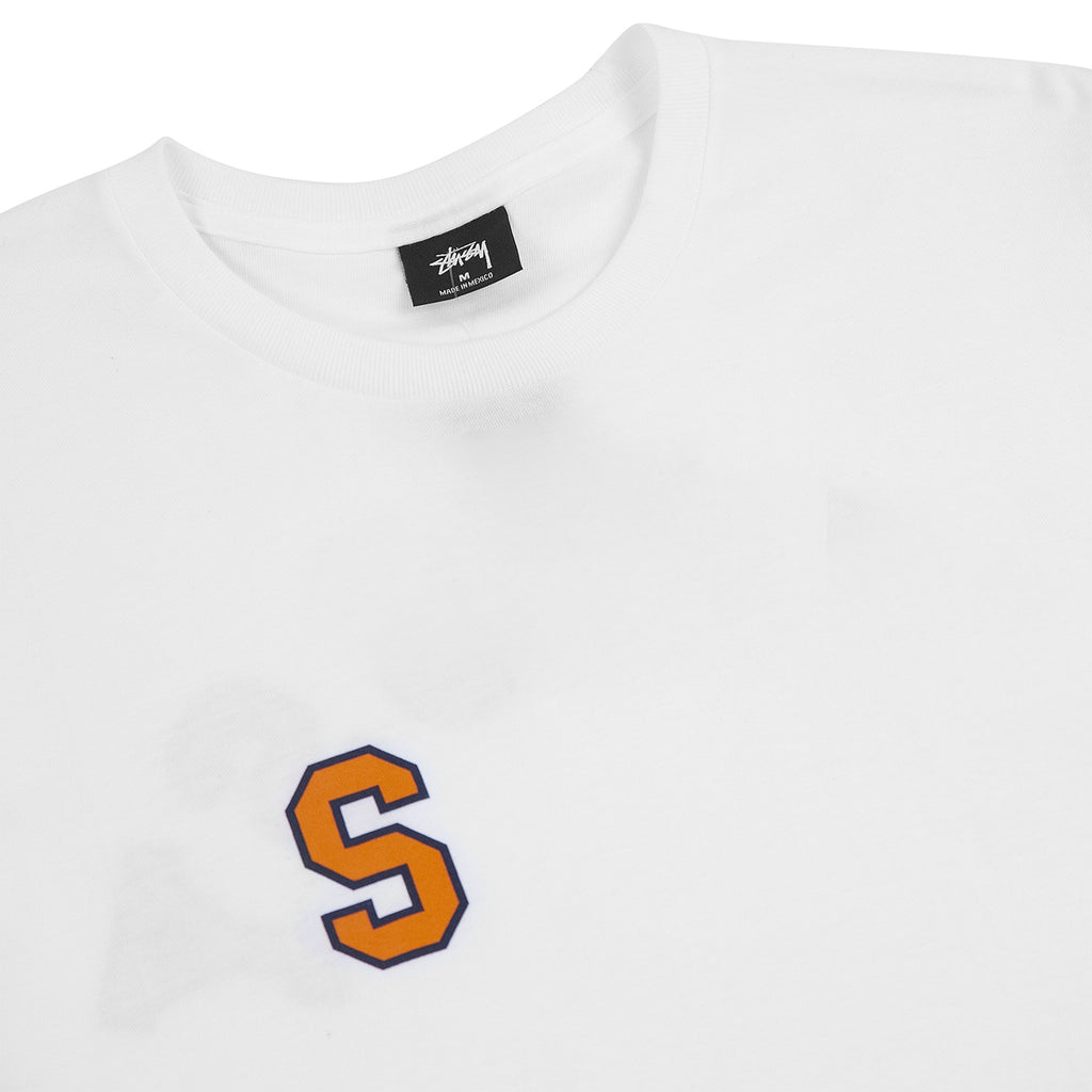 Stussy College Arc T Shirt in White - Detail