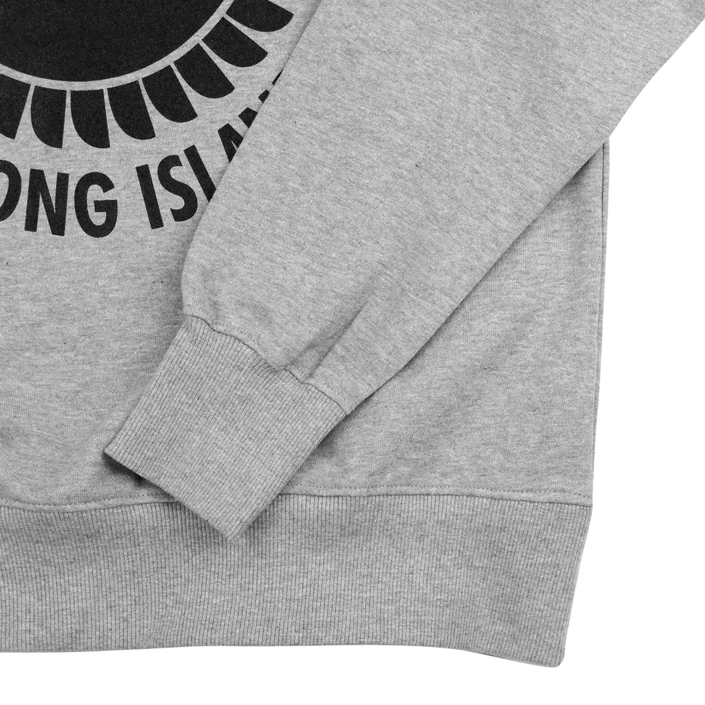 Southsea Bronx Strong Island Sweatshirt in Black On Heather Grey - Cuff