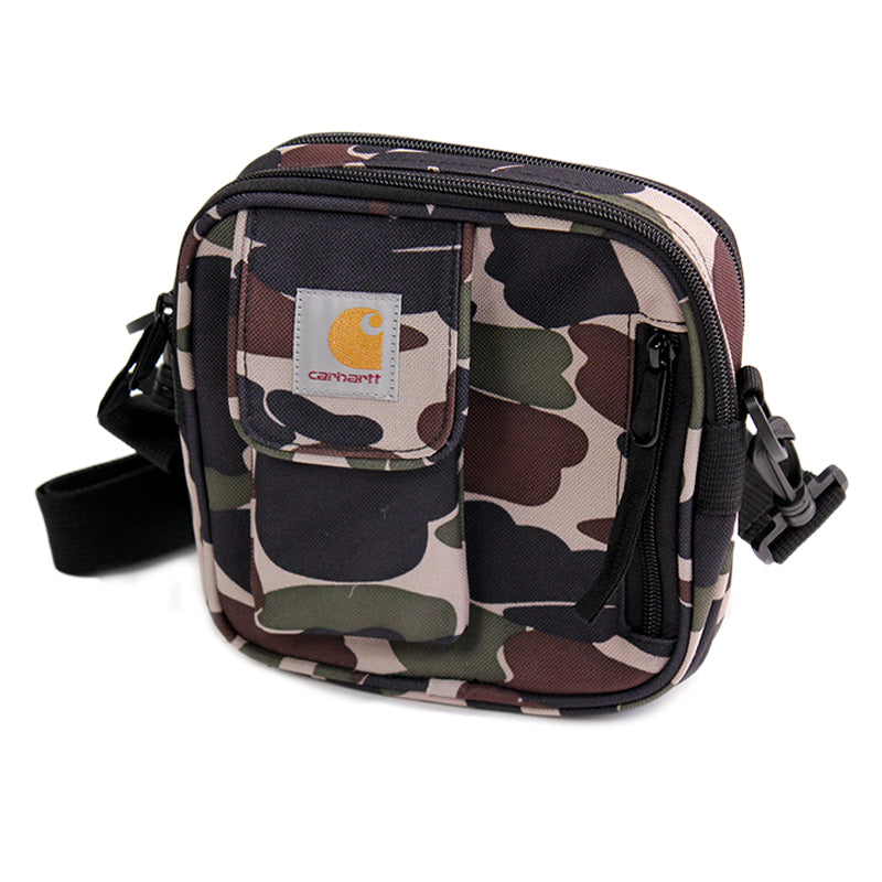 Carhartt WIP Essentials Bag in Camo Isle - Side on