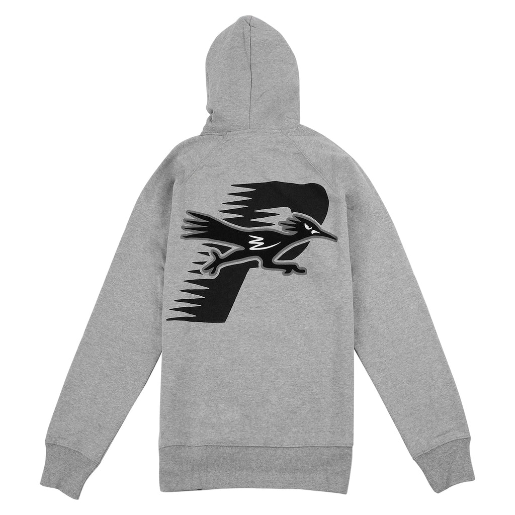 Palace Roadrunner Hoodie in Grey Marl - Back