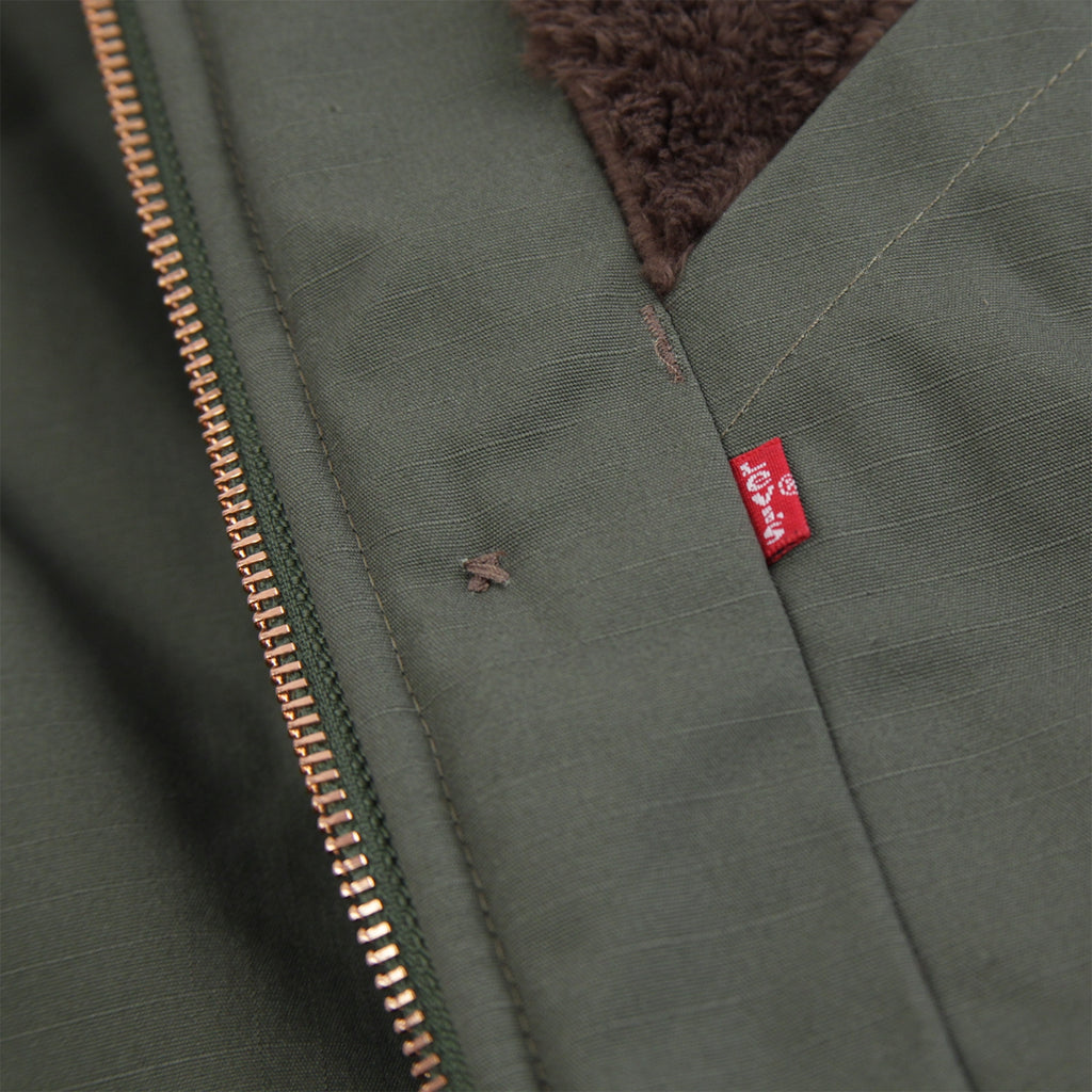 Levis Skateboarding Skate Pile Jacket in Olive Night - Label 2