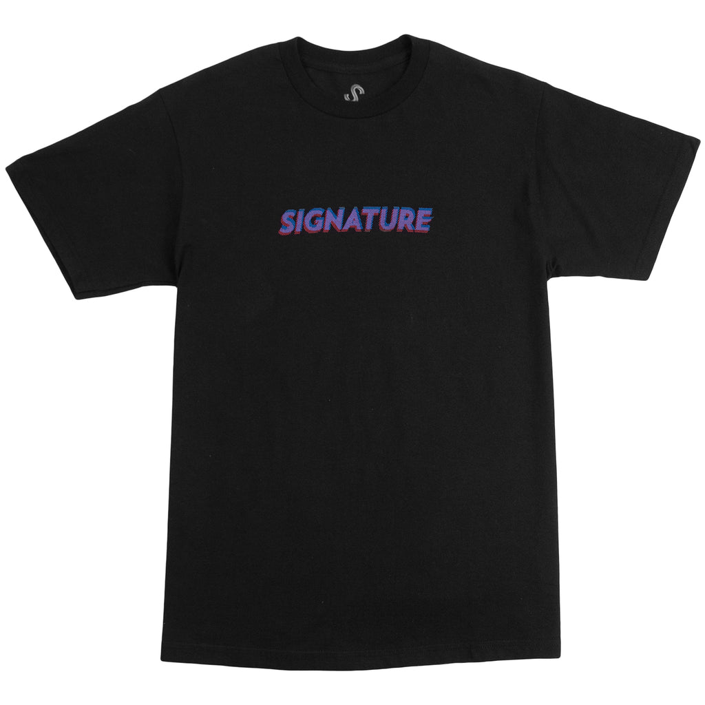 Signature Clothing 3D Logo T Shirt in Black