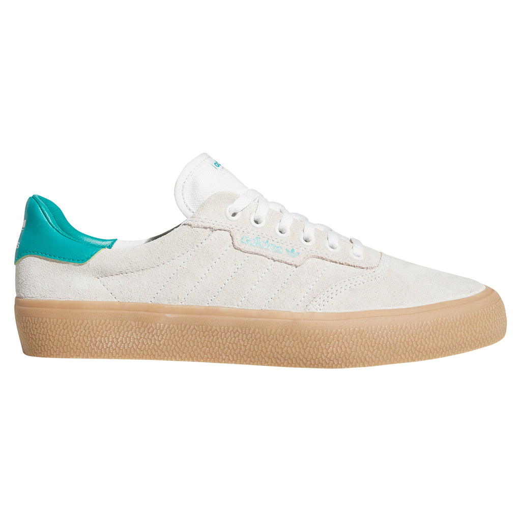 Adidas Skateboarding 3MC Shoes in Chalk White / Glory Green / Gum 4