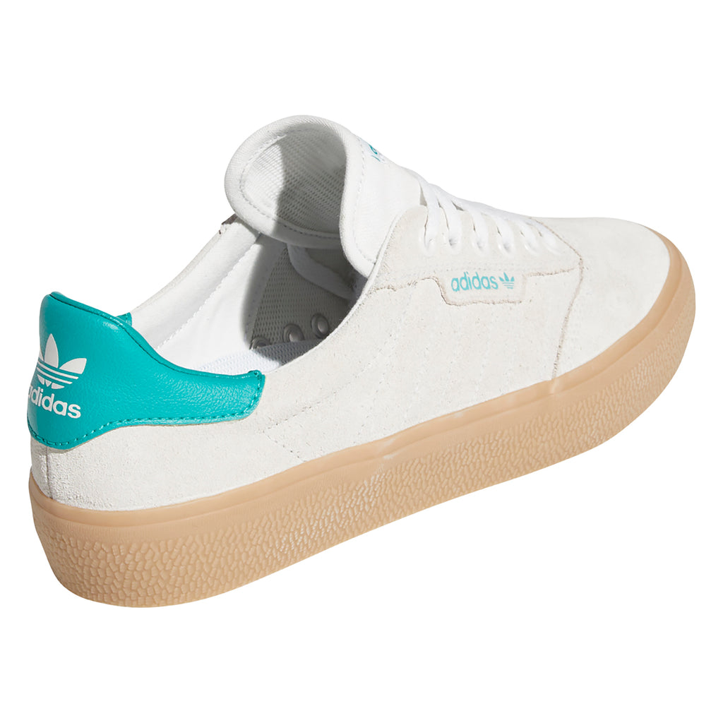 Adidas Skateboarding 3MC Shoes in Chalk White / Glory Green / Gum 4 - Side