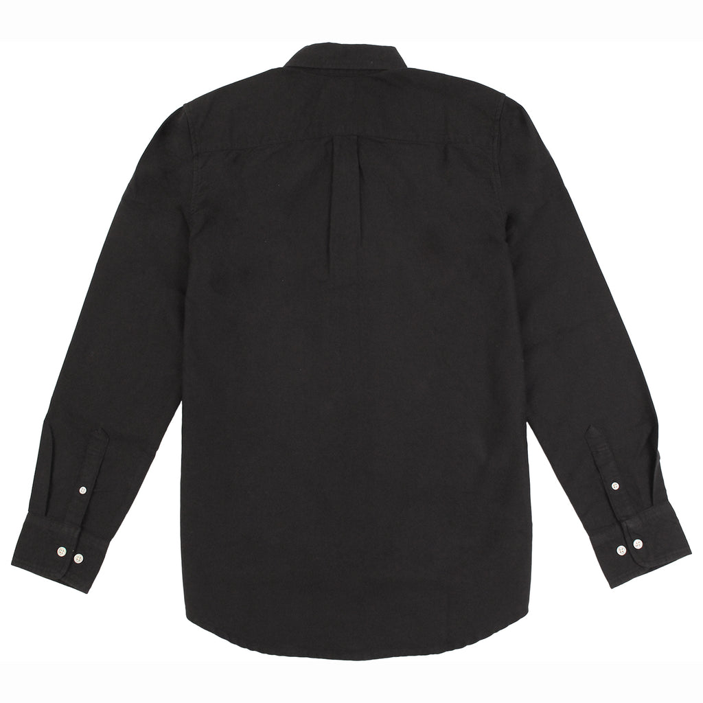 Obey Clothing Eighty Nine Woven Long Sleeve Shirt in Black - Back