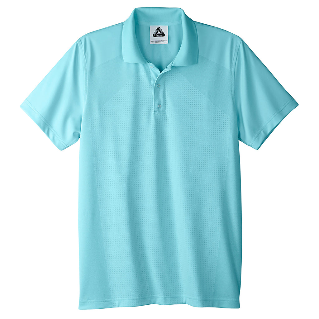 Palace x Adidas Knitted Polo Shirt in Clear Aqua - Front