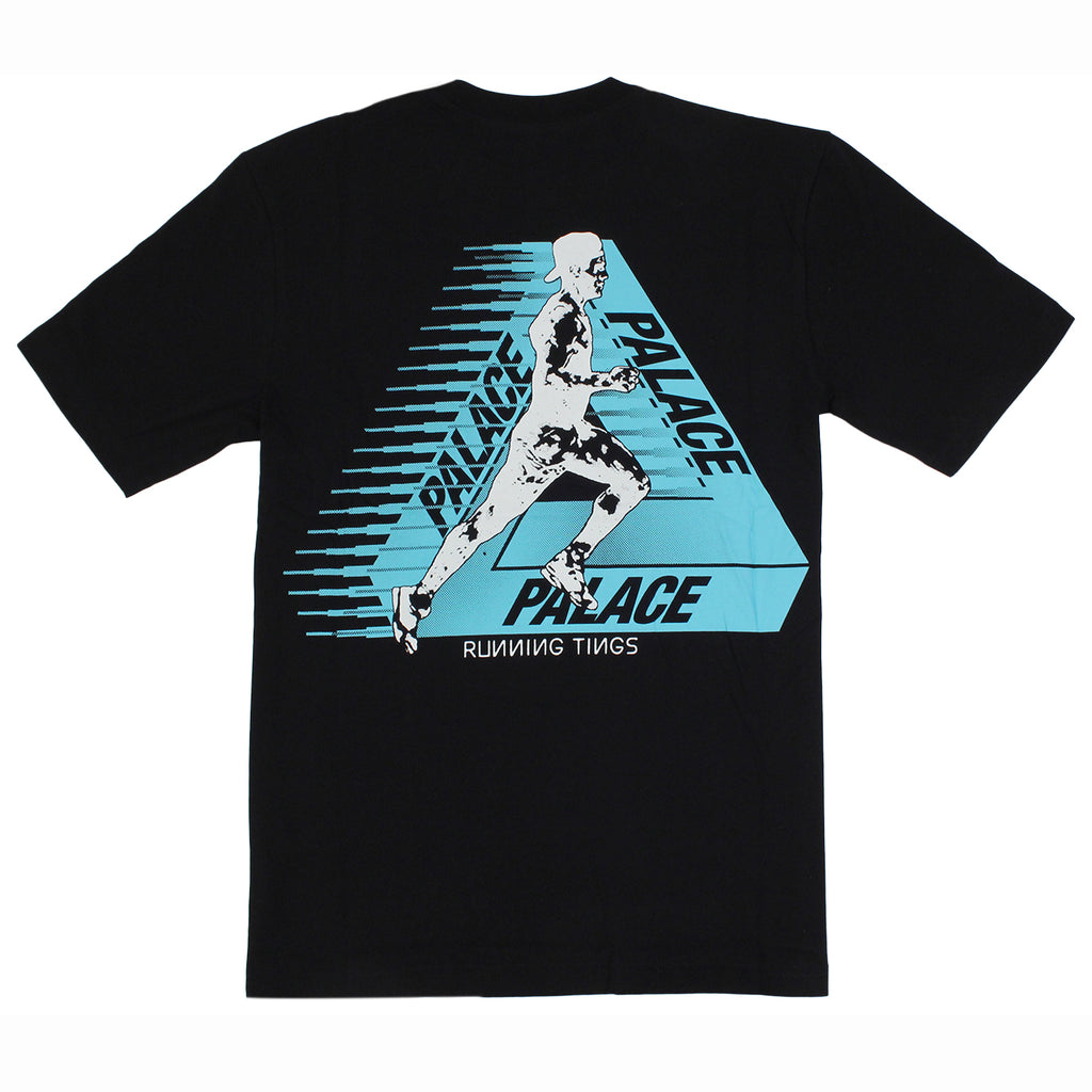 Palace Running Tings T Shirt in Black