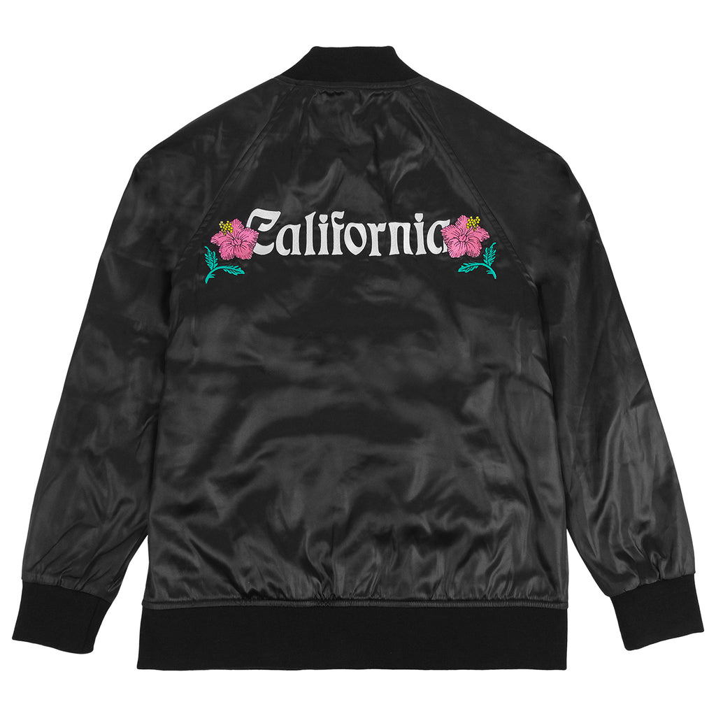 Stussy California Satin Jacket in Black