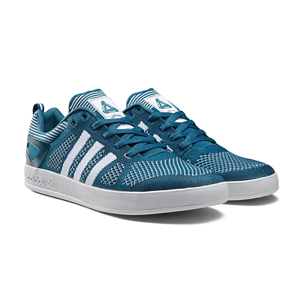 Palace x Adidas Palace Pro Primeknit Shoes in Surf Petrol / FTW White - Pair