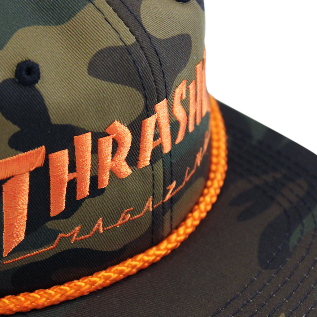 Thrasher Rope Cap in Camo - Details