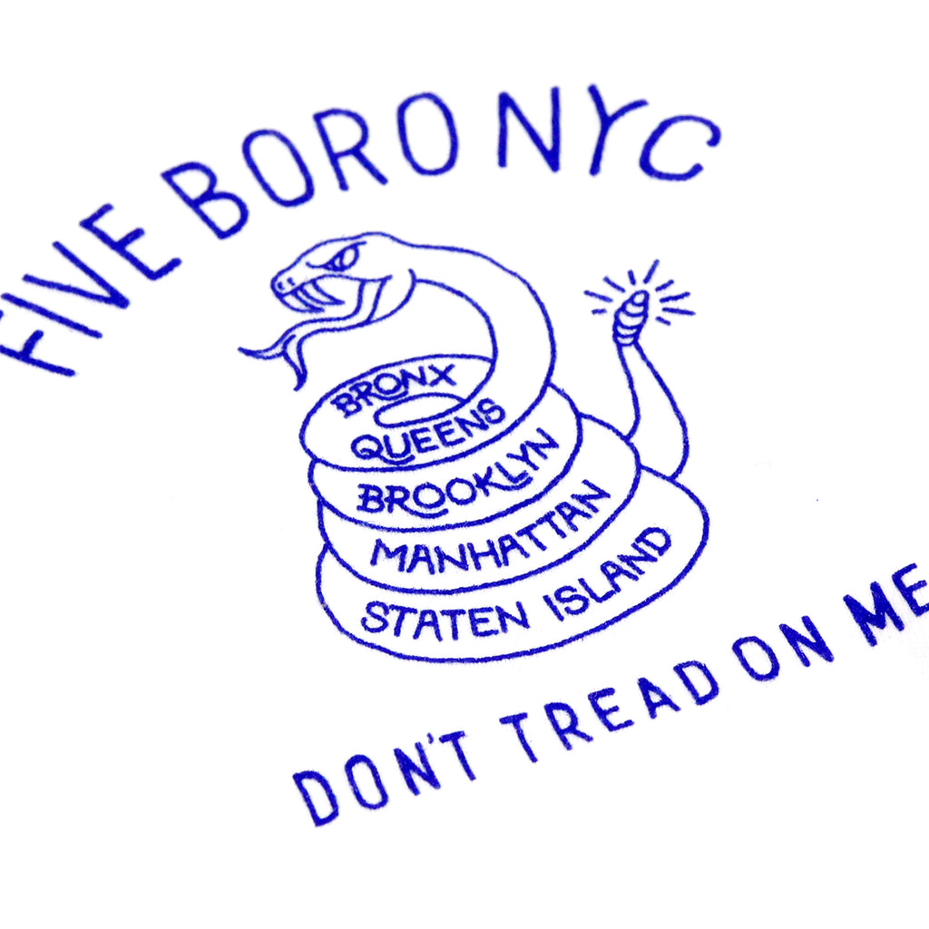 5Boro Don't Tread On Me T Shirt in White - Print 1
