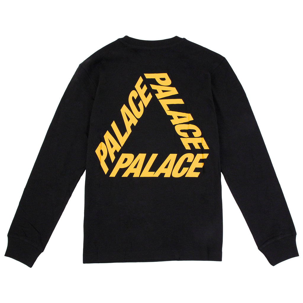 Palace P 3 L/S T Shirt in Black / Yellow - Back
