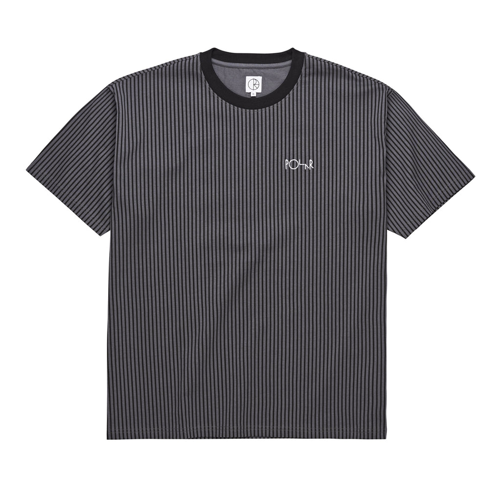 Polar Skate Co Vertical Stripe T Shirt in Black