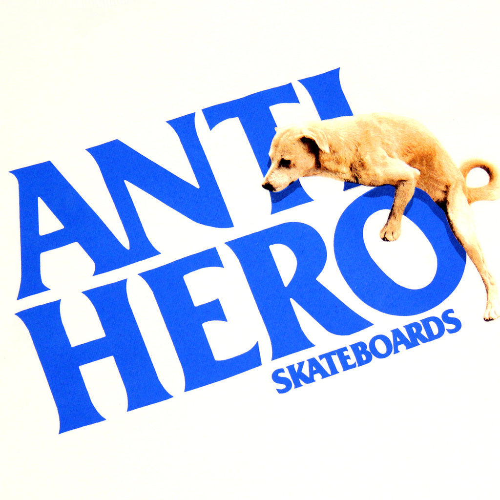Anti Hero Skateboards Dog Hump Hero T Shirt in White - Print