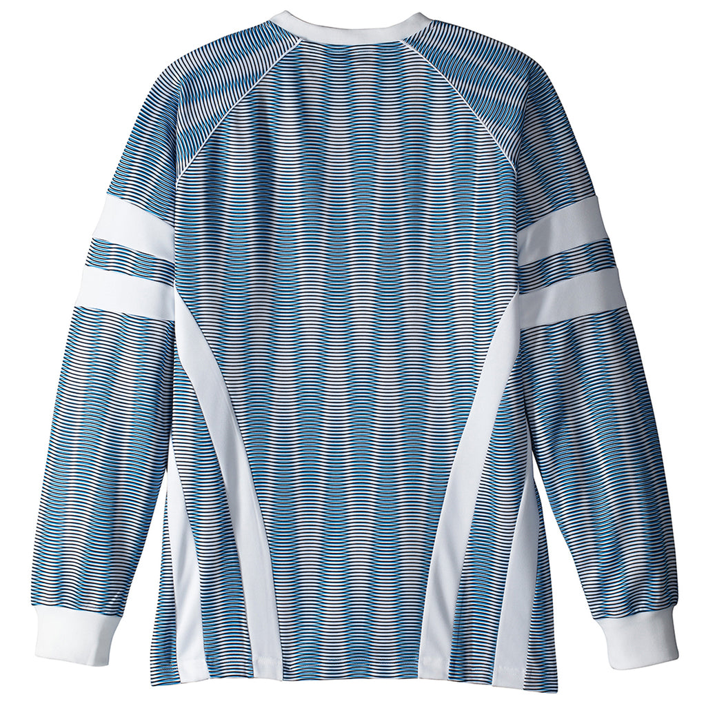 Palace x Adidas Graphic Goalie Shirt in Bold Aqua / White - Back