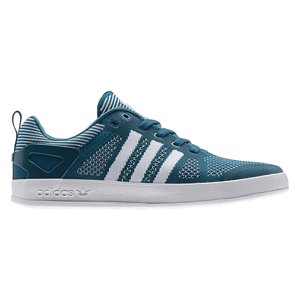 Palace x Adidas Palace Pro Primeknit Shoes in Surf Petrol / FTW White