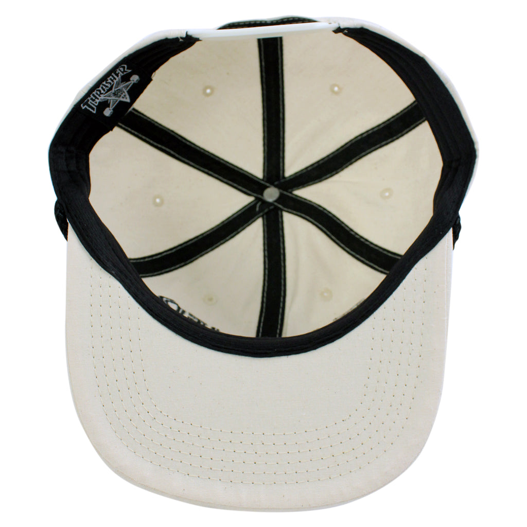 Thrasher Canvas Rope Cap in Natural - Inside