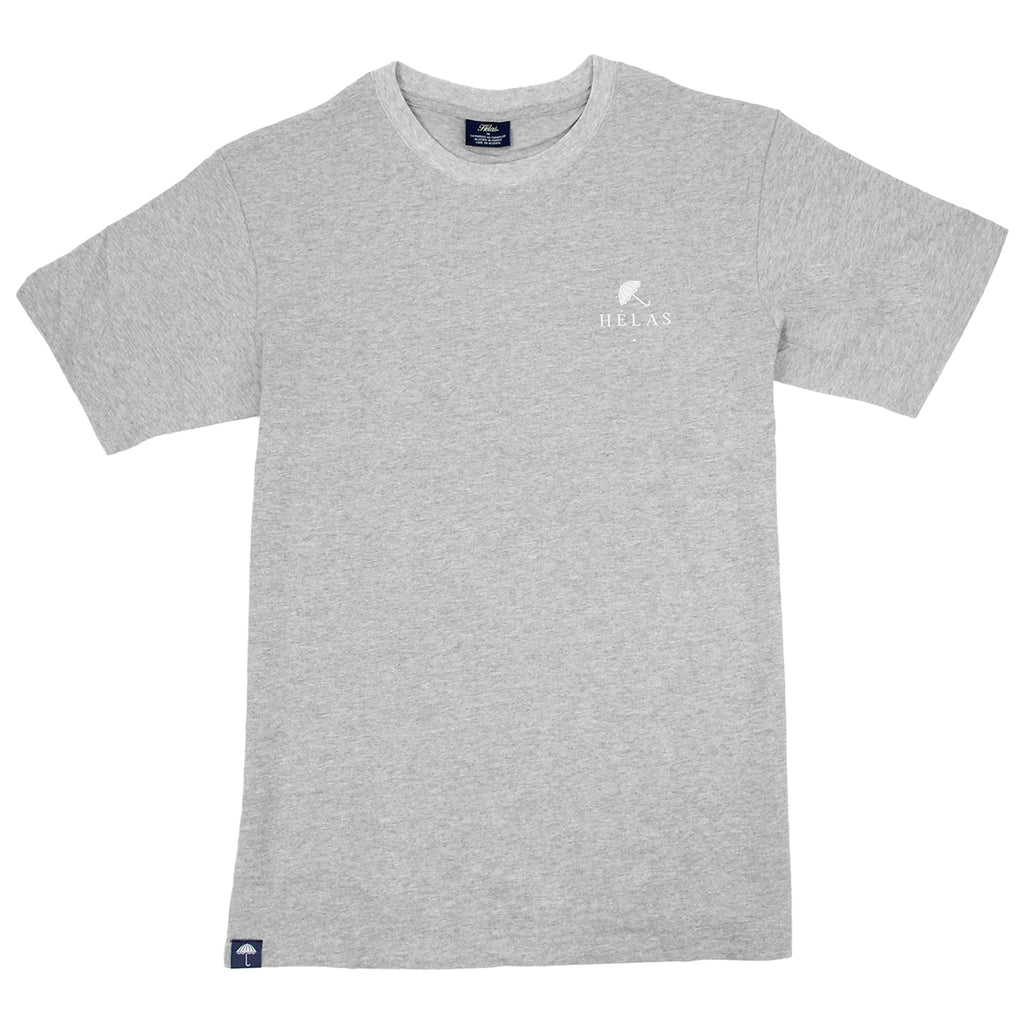 Helas Umbrella T Shirt in Heather Grey / Navy / Red - Front