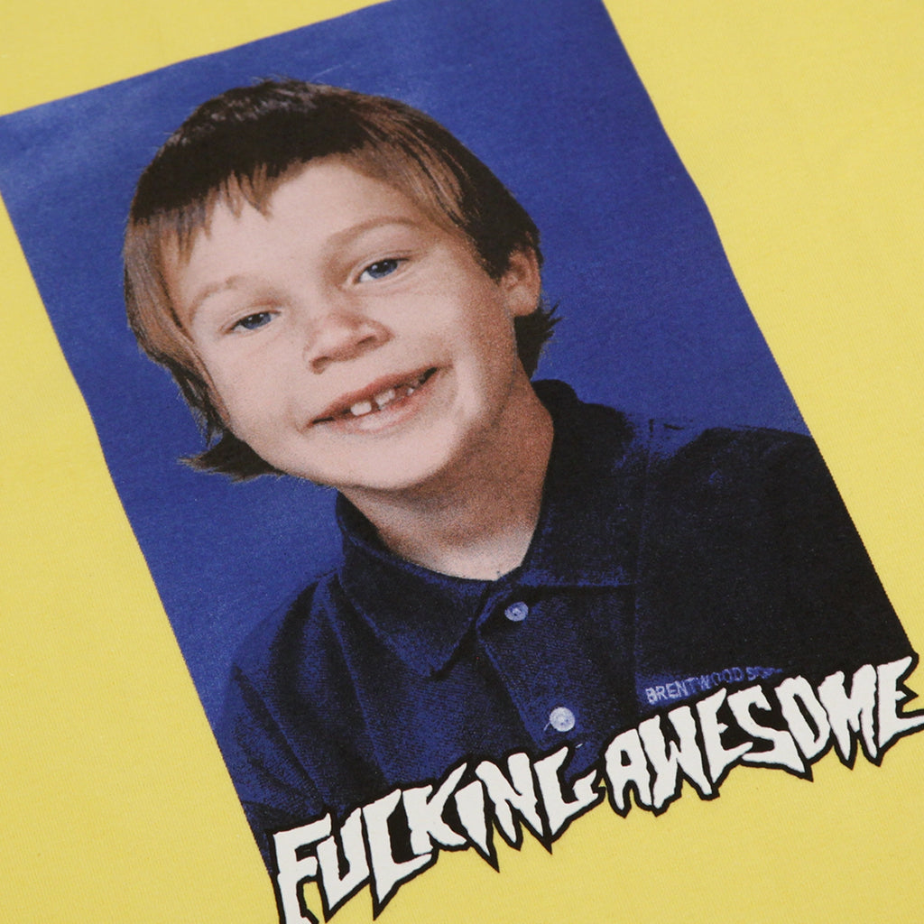 Fucking Awesome Elijah Class Photo T Shirt in Yellow - Print