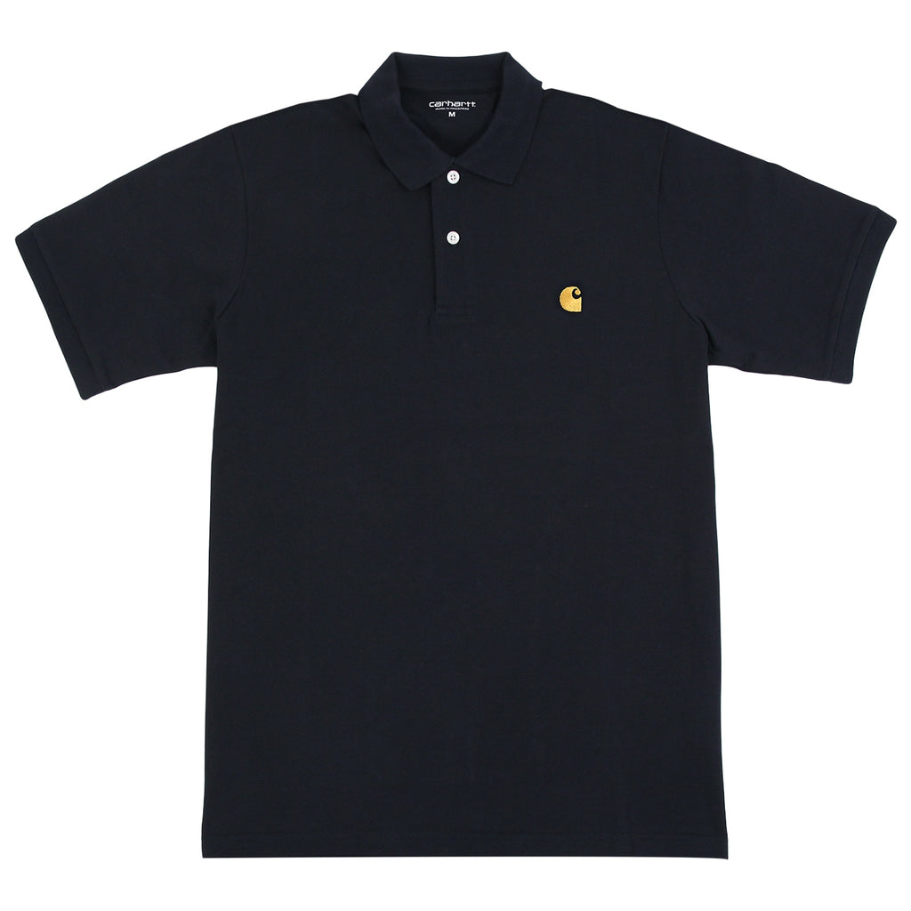 Carhartt Chase Polo Shirt in Dark Navy / Gold