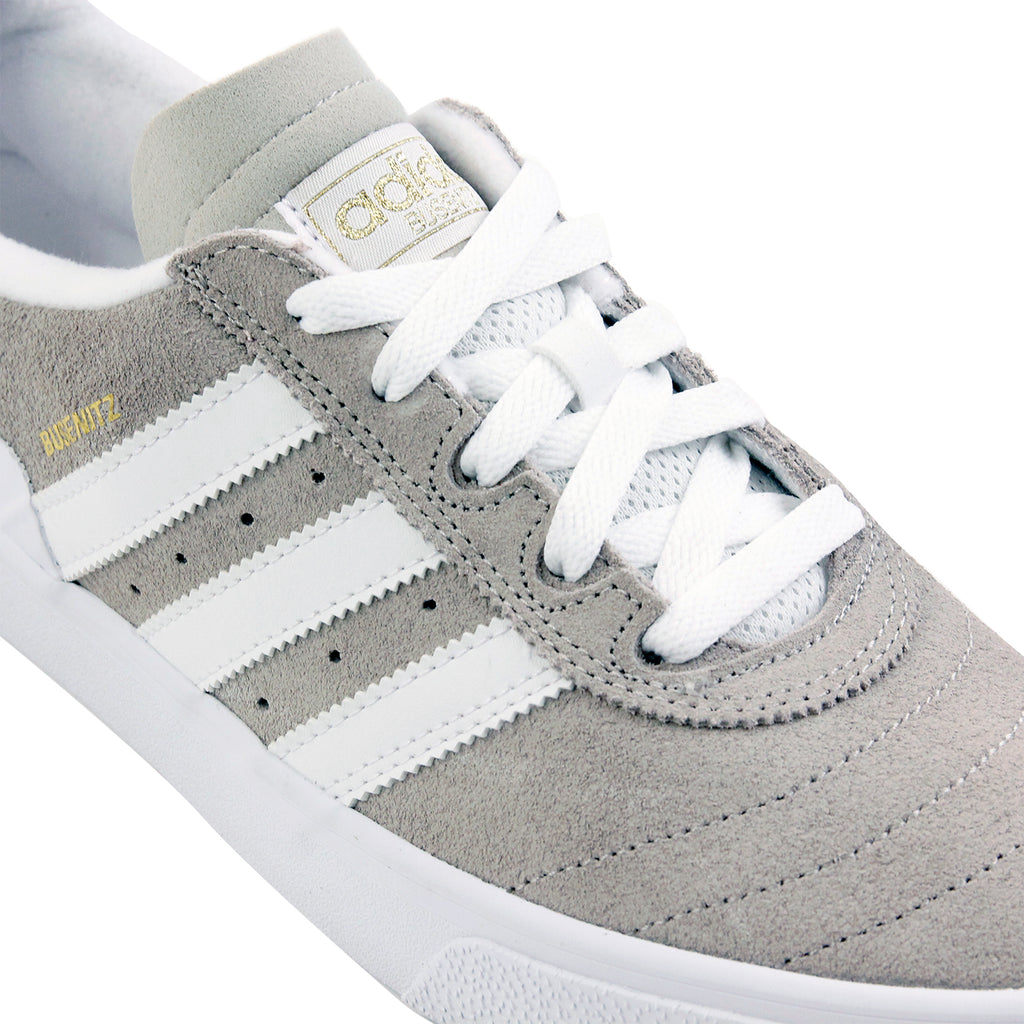 Adidas Skateboarding Busenitz Vulc Shoes in FTW White / Mist Stone / FTW White - Laces