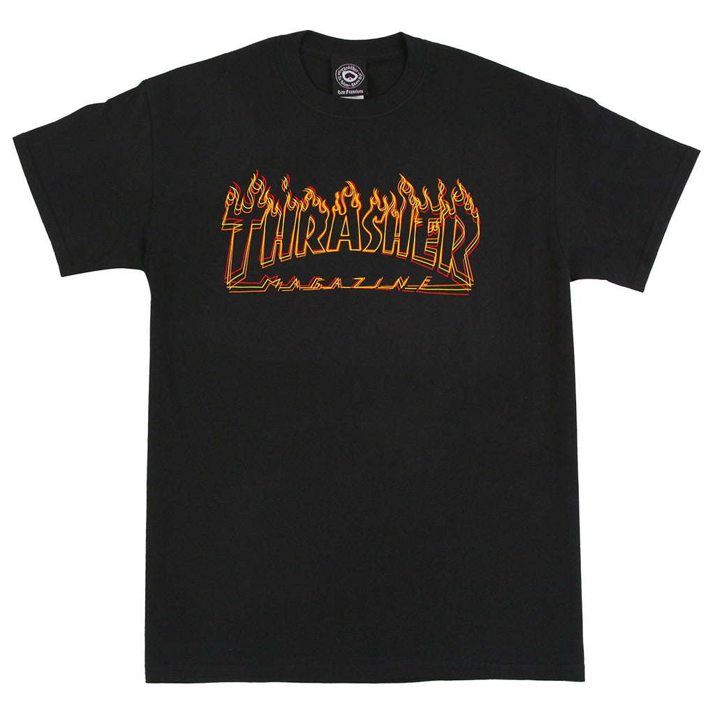 Thrasher Richter T Shirt in Black