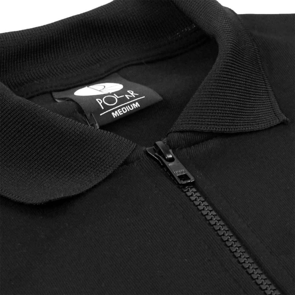 Polar Skate Co Half Zip Sweatshirt in Black / Reflective Silver - Zip