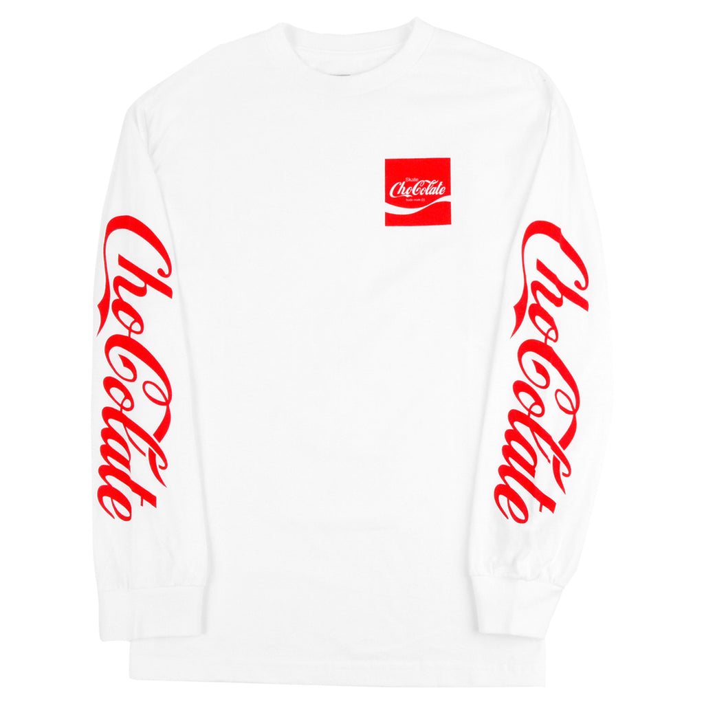 Chocolate Skateboards Cola L/S T Shirt in White - Sleeves