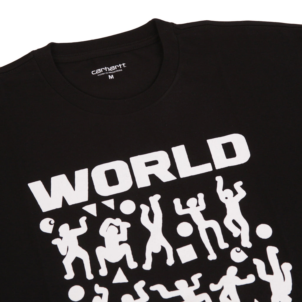 Carhartt World Party T Shirt in Black / White - Detail