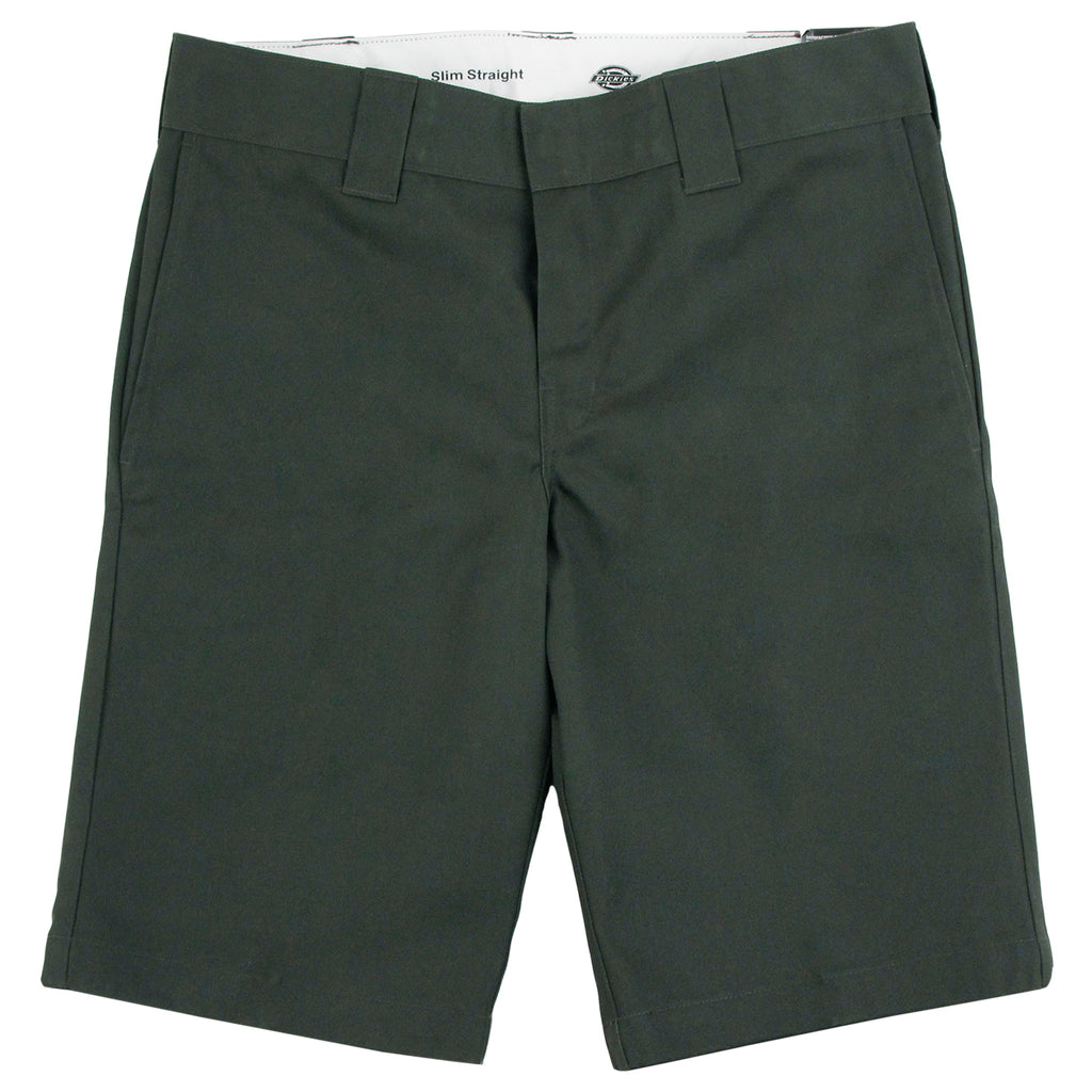 Dickies 273 Slim Fit Work Shorts in Olive - Profile