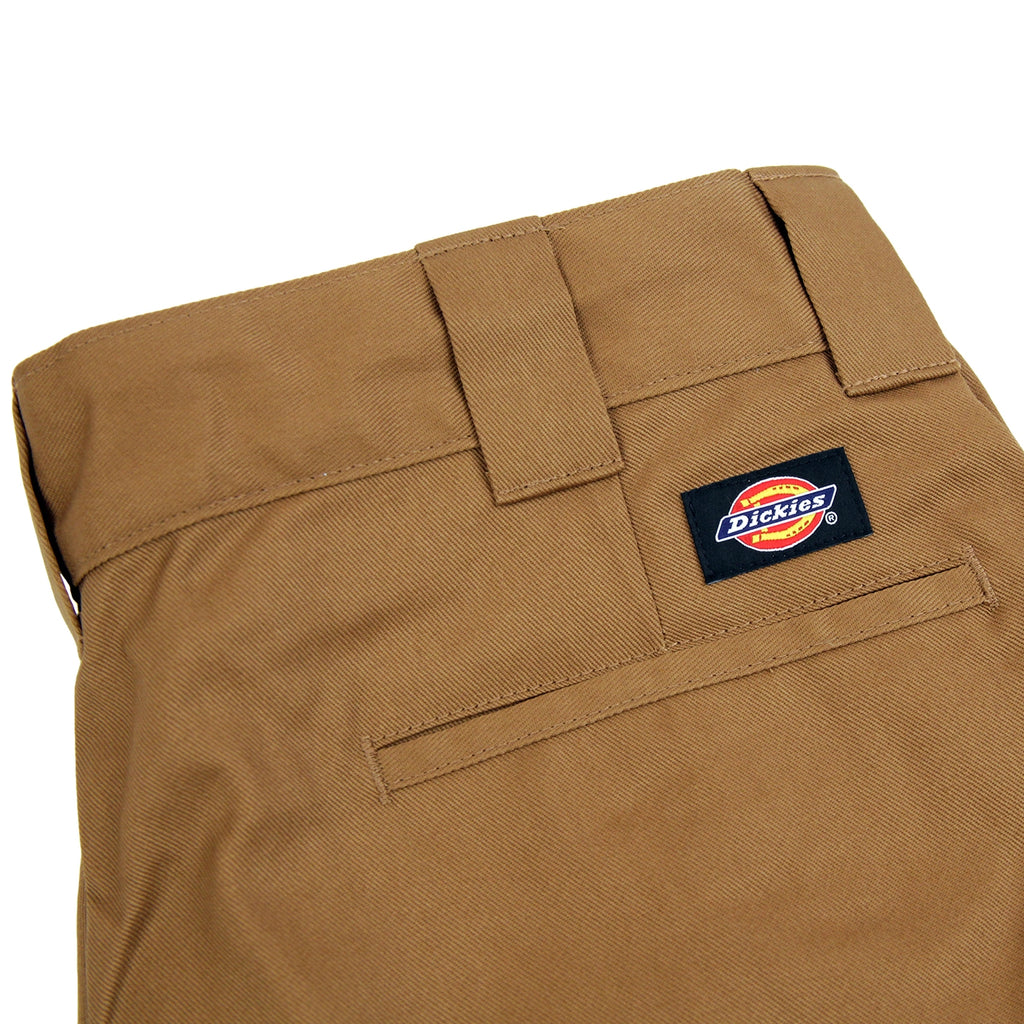 Dickies 873 Slim Straight Work Pant in Brown Duck - Label