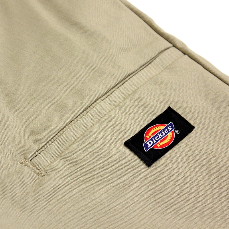 DICKIES SLIM 13 INCH WORK SHORT KHAKI - Label