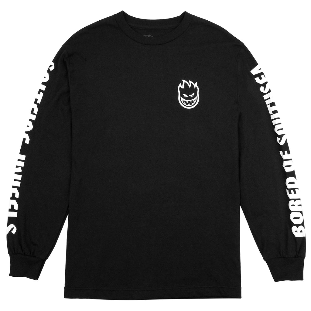 Bored of Southsea x Spitfire Wheels L/S T Shirt in Black