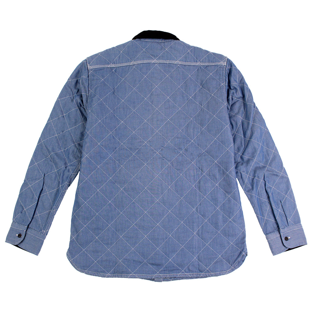 Levi's Skateboarding Collection Quilted Mason 2 Shirt in Chambray - Back