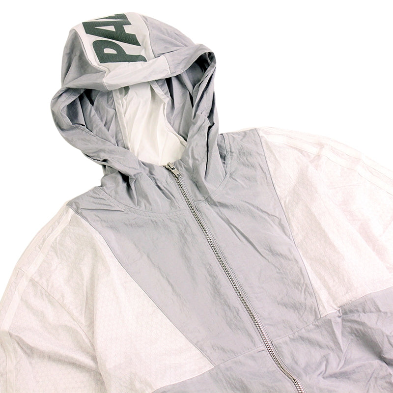 Palace x Adidas Packable Windbreaker 1 in Light Grey / Solid Grey / White - Detail