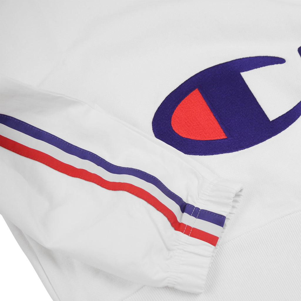 Champion Reverse Weave Training Crew Sweatshirt in White - Sleeve
