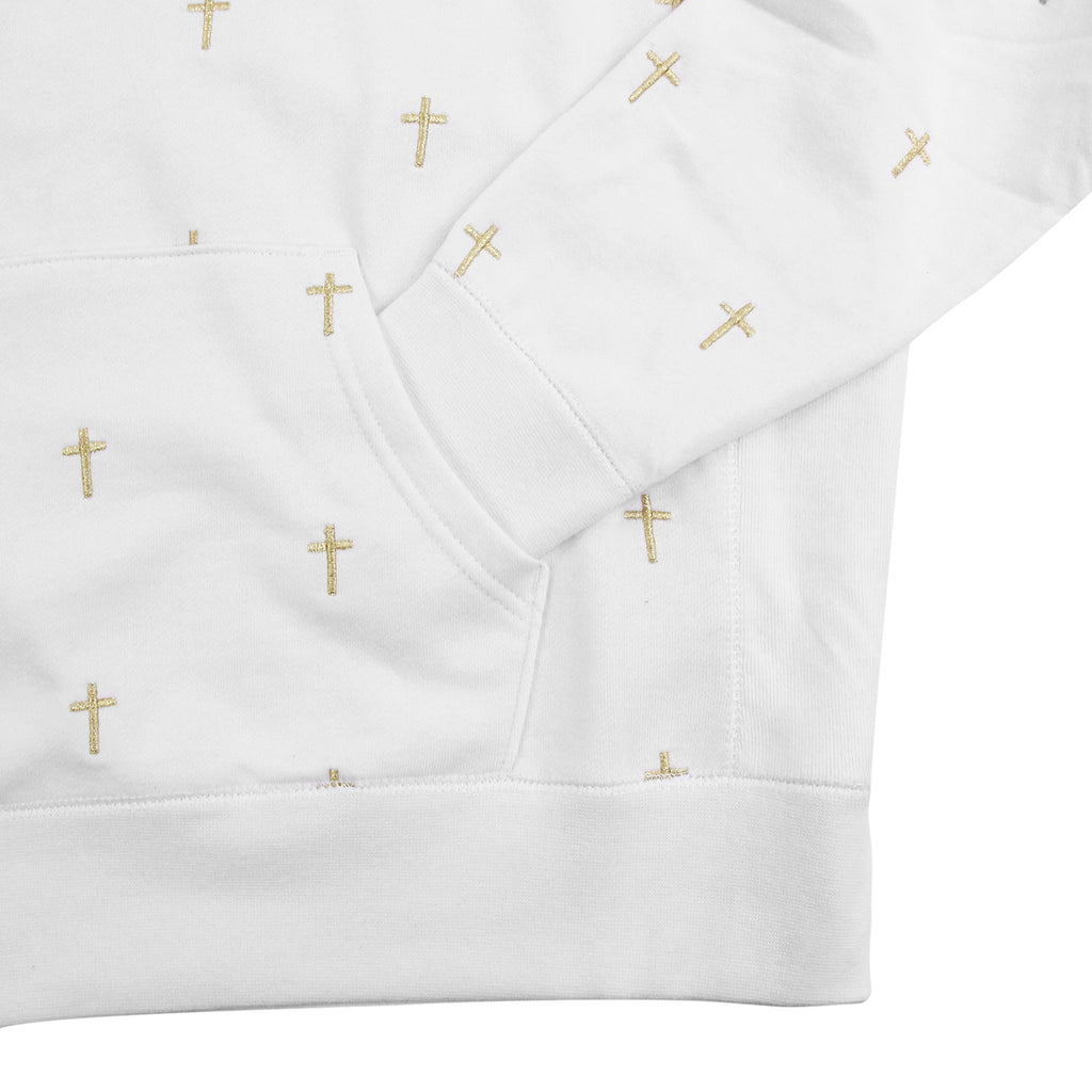 Fucking Awesome Crosses Hoodie in White - Pocket