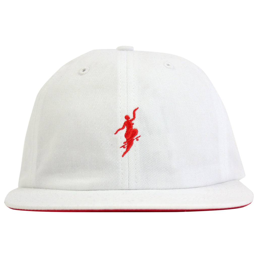 Polar Skate Co No Comply Cap in White / Red - Front
